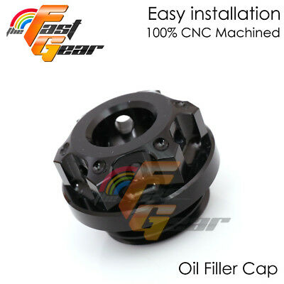 Black CNC Engine Oil Filler Cap For Aprilia DORSODURO 750 08-16