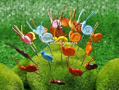 10 Pcs Miniature Dollhouse  Fairy Garden Accessories Terrarium Tiny Snail #6