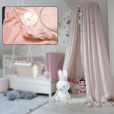 Round Bed Canopy Netting Curtain Dome Mosquito Net Elegant Pink Baby Home Decor