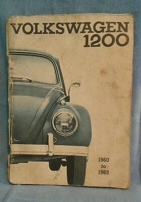Volkswagen 1200 1960 to 1963 owner's manual