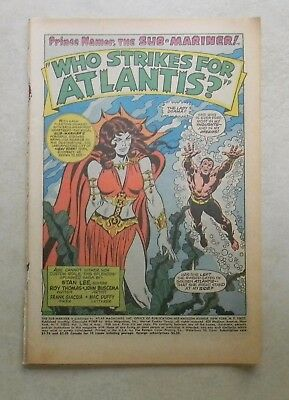 Sub-Mariner #4 (Aug 1968, Marvel) COVERLESS No front cover LADY DORMA SPLASH