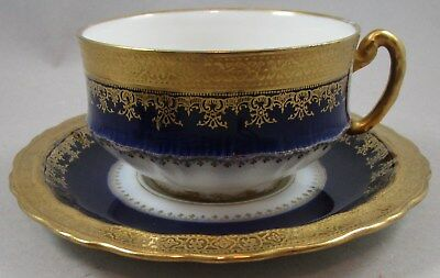 Haviland Limoges Cobalt Blue with Heavy Gold Cup and Saucer - Several Available