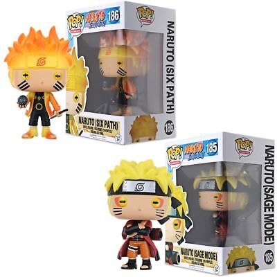 POP #186 Naruto Six Path  #185 Naruto Sage Mode Action Figure PVC Toy In Box US