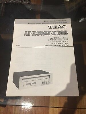 Teac AT-x30 Tuner Owners Manual