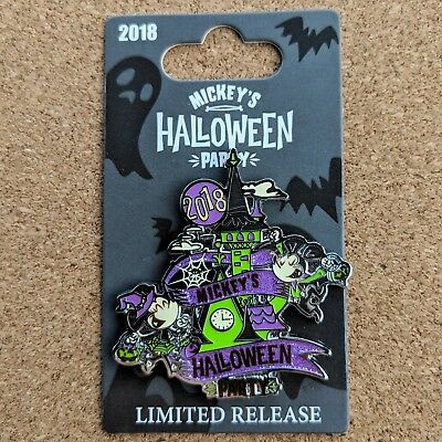 Mickey Minnie Mouse Pin 2018 Disney Disneyland Halloween Party LR
