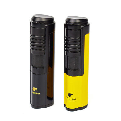 COHIBA Cigarette Cigar Lighter Metal Windproof TorchJet Flame with Cigar Punch