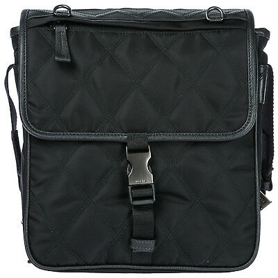 PRADA MEN S NYLON Cross-Body Messenger Shoulder Bag Black 372 ... 3243ba3c18686