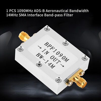 1X 1090MHz ADS-B Aeronautical Bandwidth 14MHz SMA Interface Band-pass Filter ZY