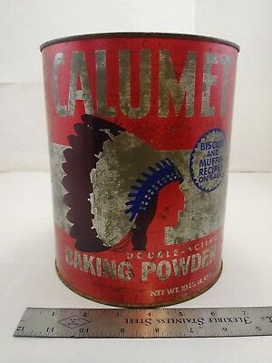 Vintage Calumet Double Acring Baking Powder Tin 10lb commercial size