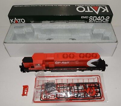 One KATO 37-2906, EMD SD40-2 Canadian Pacific # 5904 HO scale locomotive, LOT 33
