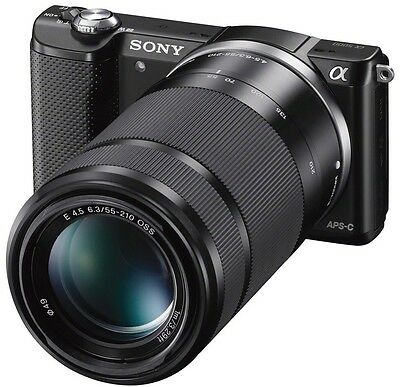 Sony Alpha A5000 Mirrorless Camera with 55-210mm F4.5-6.3 Lens. Excellent