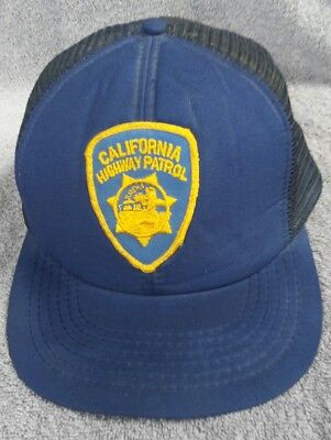 0018cac6ca1 California Highway Patrol Hat Cap Vintage LAPD Snapback Blue Yellow 70 s  80 s