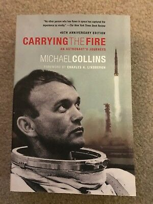 Michael Collins Signed Book Carry The Fire Rare First Edition First Printing