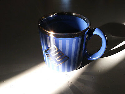 Rare Blue And Gold Enron Coffee Mug Tams Made In England Excellent Condition!!!