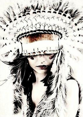 White indian  High Quality wall Art poster Choose your Size
