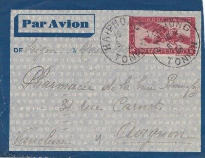 French colonies Indo-chine 1934: air mail Haiphong to Avignon
