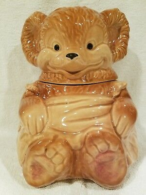 Vintage Brush McCoy Teddy Bear Cookie Jar 1950's - 014 - Retired - HTF!
