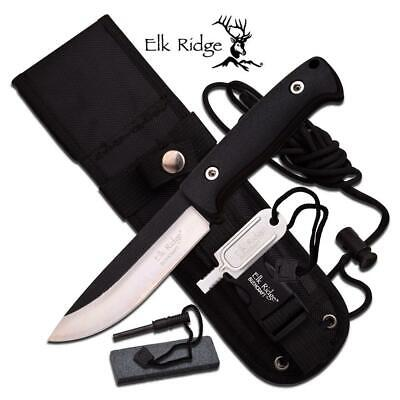 Elk Ridge Bushcraft Knife w/ Survival Kit ER555BK