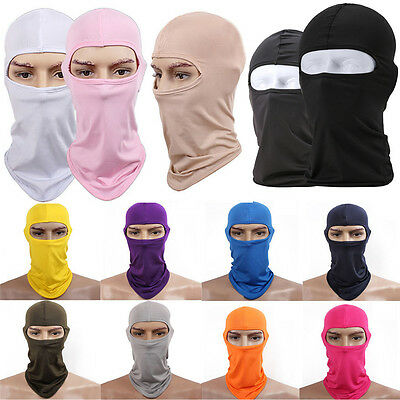 Full Face Mask lycra Balaclava Ultra-thin Cycling Motorcycle Protecting Neck HY