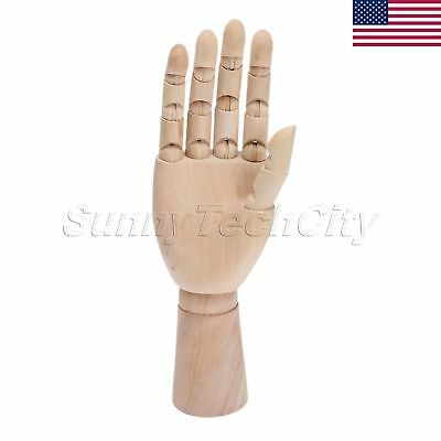 US STOCK Anti-Live 1:1 Design Right Hand Model Jointed Movable Fingers Mannequin