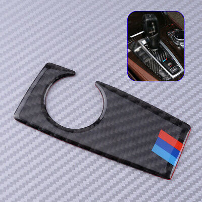 Carbon Fiber Gear Shift Handle Knob Panel Base Cover For BMW F10 LHD ONLY Décor.