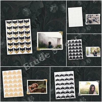 24 pcs Self Adhesive Photo Album Corner Protector Stickers Zakka Card Picutre