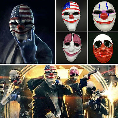 Game Payday 2 Dallas Mask Heist Joker Costume Props Cosplay Halloween Mask Party