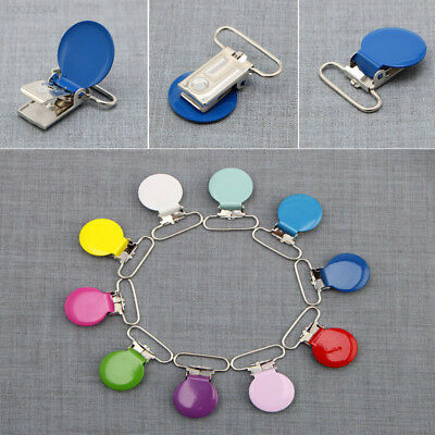 AFFD Healthy 10Pcs Infant Baby Metal Clips Nipple clip Pacifier Holders Alloy Ho
