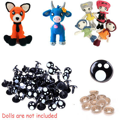100PCS Safety Eyes Toys for Teddy Bear Doll Animal Making Craft DIY Screws