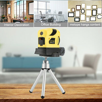 3D Red Laser Level Self Leveling 2 Lines 360 °Horizontal Vertical Cross +Tripod