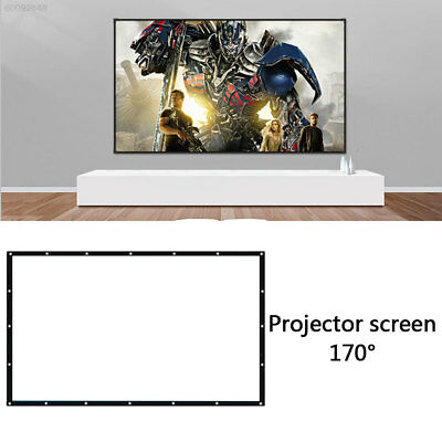 AA8E 16:9 Projector Curtain Projection Screen Home Theater Weddings
