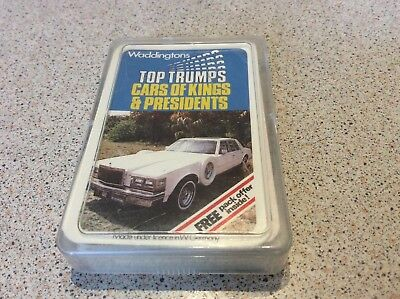 RARE VINTAGE 70s  CARS OF KINGS AND PRESIDENTS TOP TRUMPS ONLY 1 ON EBAY