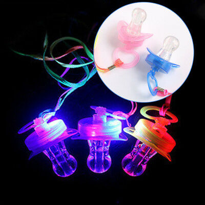 Glowing Flash Pacifier Light Up Nipple Whistle Home Party Bar Baby Toys Gifts