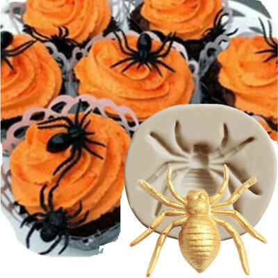 Silicone Halloween Spider Candy Mold Cake Sugarcraft Fondant Jewelry Resin Decor