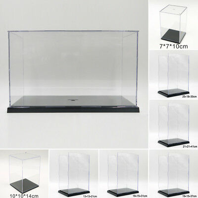 Clear Acrylic Display Case Perspex Box Plastic Base Cube For Jewelry Figure Show