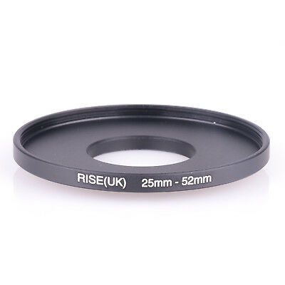 25mm to 52mm 25-52mm25mm-52mm Stepping Step Up Filter Ring Adapter black