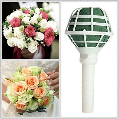 1x Floral Holder Wedding Bouquet Bridal Posy Oasis Wet Foam Flowers Decoration