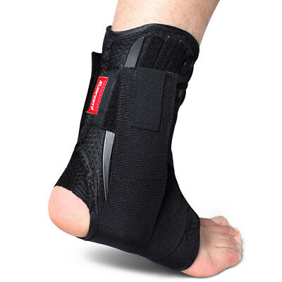 Kuangmi Ankle support Lace Up With Side Stabilizers Brace Protection Size XL