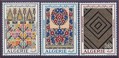 ALGERIE N°563/565** Broderies, 1973 Algeria Embroidery MNH