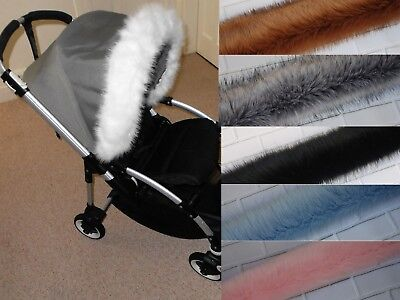 Mothercare Hood trim fur for pram pushchair fit Bugaboo Stokke  Egg Mima Icandy