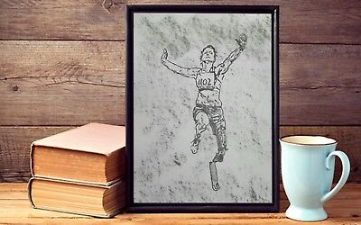 Charcoal Drawing of a ATHLETES : Original Art/A3 SIZE