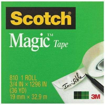 NEW Scotch Magic 810 Invisible Adhesive Tape Matte Finish 19mm x 32.9m Office