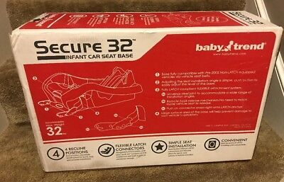 Baby Trend Secure 32 Infant Car Seat Base - New In Box