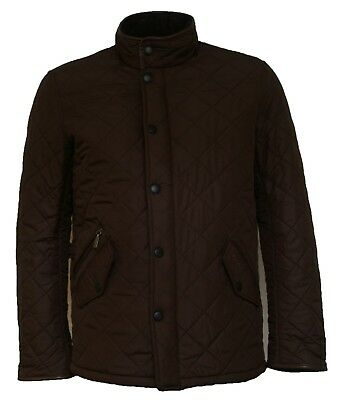 Brand New Men's Barbour Powell Olive Quilted Coat
