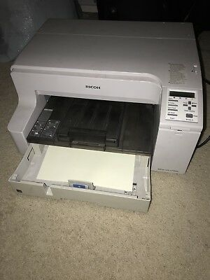 RICOH AFICIO GX e7700n COLOR DYE SUBLIMATION PRINTER W/ LARGE FORMAT BYPASS TRAY