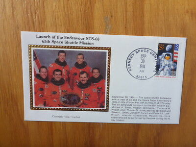 Vintage Usa Colorano Silk Illustrated Space Fdc - Endeavour Sts-68 Mission Crew