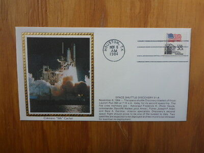 Vintage Usa Colorano Silk Illustrated Space Fdc- Shuttle Discover 51-A #2