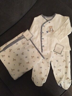 First Impressions Baby Boy Outfit and Swaddle