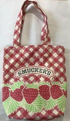 SMUCKERS Jams~Vtg Mastercraft Fabrics~tote/bag/purse With Strawberries~CUTE!