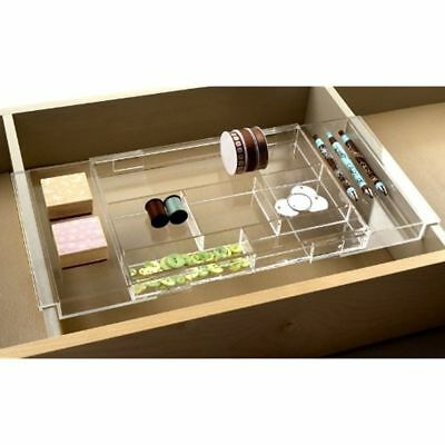 Makeup Organizers Expandable & Vanity Hanging Drawer Tray - Expands To Fit